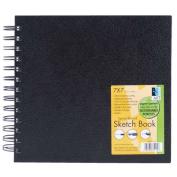 Black Wirebound Sketch Book 7 X 7
