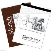 "Wennow ""9"""" × 12"""" (22.8cm × 30.4 cm)30 Sheets+40 Sheets Sketch Book Paper Pad Set of 2 """