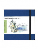 Hand Book Journal Co. Travelogue Drawing Journals 14cm . x 14cm . square ultramarine blue