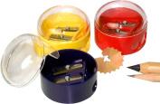 Kum 102.05.21 Plastic 2-Hole Dome Shape Inner Pencil Sharpener, Colours Vary