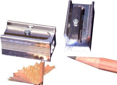 Kum 104.06.01 Magnesium Alloy 1-Hole Steel Blade Long Point Pencil Sharpeners