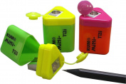 Kum 402.13.21 Magnesium Alloy Metal Steel Blade Pencil Sharpeners, Colours Vary