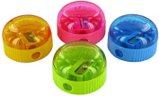 Kum 347.03.21 1-Hole Pencil Sharpener with Waste Container, Colours Vary