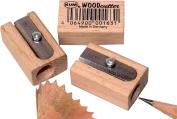 Kum 107.01.01 Wood 1-Hole Steel Blade Pencil Sharpener, Colours Vary