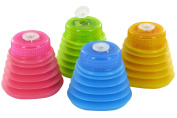 Kum 347.01.21 Pop Line Softie 1-Hole Pencil Sharpener with Polystyrene Container, Colours Vary