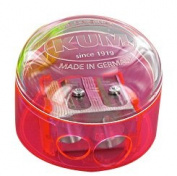 Kum 301.08.21 Magnesium 2-Hole Dome Shape Inner Pencil Sharpener, Colours Vary