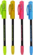 Kum 347.02.24 Tiptop Popline D Cap Pencil Sharpener with Eraser, Colours Vary