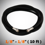 10'ft Braided Airbrush Air Hose 0.3cm - 0.3cm Adapter Fitting