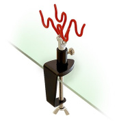 Clamp-on Stand Table-mount Two Airbrush Holder Station