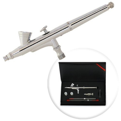 Dual-Action 2cc Gravity-feed Airbrush 3 Tip Set (0.2mm 0.3mm 0.5mm)