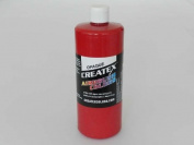0.9l (950ml) of Opaque Red #5210 CREATEX AIRBRUSH colours Hobby Craft Art PAINT