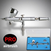 0.2mm Pro Dual-Action Airbrush Gravity Feed with MAC Valve