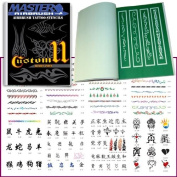 Master Airbrush® Brand Airbrush Tattoo Stencils Set Book #11 Reuseable Tattoo Template Set, Book Contains 116 Unique Stencil Designs, All Patterns Come on High Quality Vinyl Sheets with a Self Adhesive Backing.