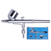New Multi-purpose Dual Action Gravity Feed Airbrush Gun with Kit - 0.3mm