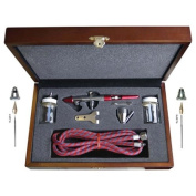 Paasche MIL-3W Double Action Airbrush in Wood Case