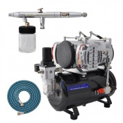 Master Airbrush S62 SET DUAL-ACTION AIRBRUSH Kit with Airbrush Depot Air Compressor