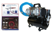 Paasche H-SET Airbrushing System with AirBrush-Depot TC-848 Four-Cylinder Piston Air Compressor w/ Tank & Case