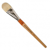 R & F Handmade Paints Encaustic Filbert Paintbrush, No.16