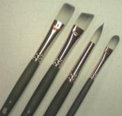 Long Handle Synthetic Bristle Filbert Brush
