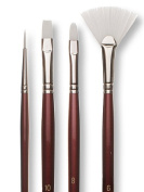 Robert Simmons White Sable Brushes Long Handle 1 round
