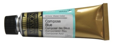 Mission Gold Water Colour, 15ml, Compose Blue