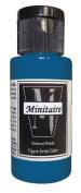 Badger Air-Brush Company, 60ml Bottle Minitaire Airbrush Ready, Water Based Acrylic Paint, Nautilus Blue