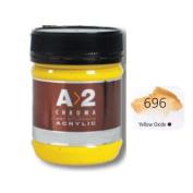 A2 Students Acrylic Paint 250ml Jar Yellow Oxide