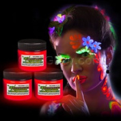 Glominex Glow in the Dark Face and Body Paint 30ml Jar - Red