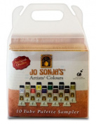 Jo Sonja's Artists' Colours Sampler Set of 10 20 ml Tubes - Assorted Colours