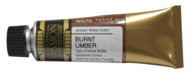 Mission Gold Water Colour, 15ml, Burnt Umber