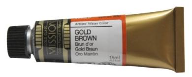 Mijello Mission Gold Class Water Colour, 15ml, Gold Brown