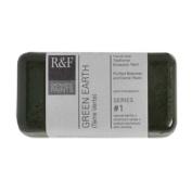 R & F Encaustic 40ml Paint, Green Earth