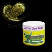 Glominex Glitter Glow Paint 60ml Jar - Yellow