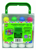 Crafty Dab Kids Paint - 4 Pack Carry Case