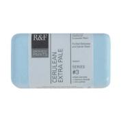 R & F Encaustic 40ml Paint, Cerulean Extra Pale