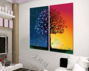 ASIA MODERN ABSTRACT WALL ART PAINTING ON CANVAS NEW Style ! (NO FRAME?with A riot of colours of the tree, the abstract conception