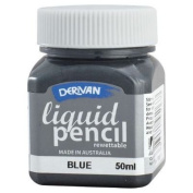 Derivan LP5RBL 50ml Rewettable Blue Liquid Pencil