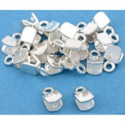 20 Sterling Silver Crimp Cord Ends Beading Jewellery Part