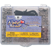 Alphabet Bead Kit with Antique Silver Alpha Beads