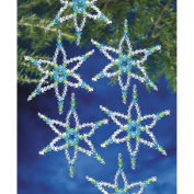 Holiday Beaded Ornament Kit-Turquoise & Lime Six Point Star