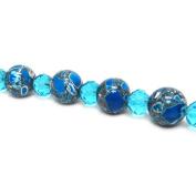Fiona Gemstone Bead Strand, 14mm, Turquoise