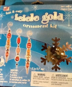 Icicle Gold Ornament Kit - 18cm By Westrim