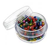 6pc Screw-Top Clear Acrylic Bead Jars Containers 20ml - 2.5cm - 1.9cm x 2.5cm