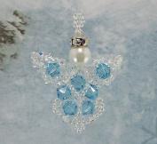 . Crystal Angel Beading Kit, Blue, Intermediate Project Kit