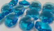 Pack of 12 14mm Chandelier Crystals Aqua Octagon Beads
