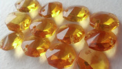 Pack of 12 14mm Chandelier Crystals Honey Gold Octagon Beads Pack of 12