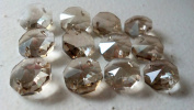 14mm Champagne Octagon Chandelier Crystals Prism Beads Pack of 12