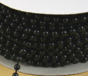 4mm Faux Pearl Plastic Beads on a String Craft Roll Black