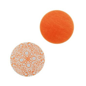 Lillypilly Aluminium Circle Stamping Orange W/ Mid. Eastern Pattern 19mm