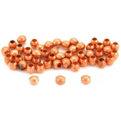 50 Round Ball Beads Copper Plated Jewellery Beading 3mm